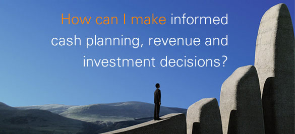 How can I make informed cash planning, revenue and investment decisions?